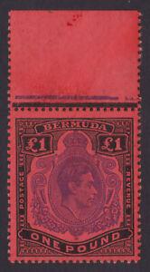 Bermuda. SG 121e, £1 bright violet & black/scarlet, perf 13. Unmounted mint.