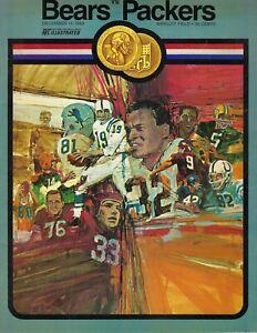 1969 12/14 football program Green Bay Packers v Chicago Bears Gale Sayers VG