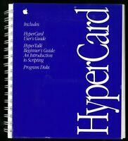 90s APPLE Mac HyperCard User's Guide, Scripting Guide, Floppy Discs, 1990
