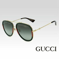 GUCCI GG0062S 003 Gold w/Green Gradient Unisex Aviator Sunglasses