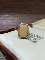 Vintage/ Antique Sterling Silver Ring, Art Deco Cocktail Ring, Size L, 1930's