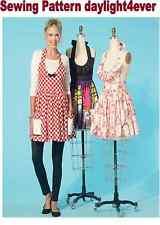 Women Apron Ruffles & Pockets Sewing Pattern 7305 McCall's New Size S-XL 8-22 #v