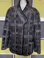 OSKA Grey & Black Thin Wool Blend Jacket Size 2 App  UK 14-16