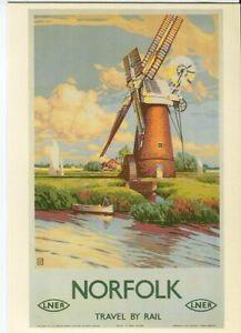 Drumahoe Postcard LNER Norfolk DGR70 repro poster Buckle