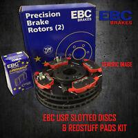 NEW EBC 280mm REAR USR SLOTTED BRAKE DISCS AND REDSTUFF PADS KIT KIT11147