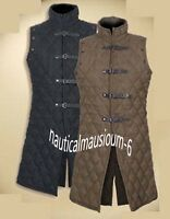 Thick Black & Brown Medieval Padded Gambeson Aketon Armour LARP RE-ENACTMENT
