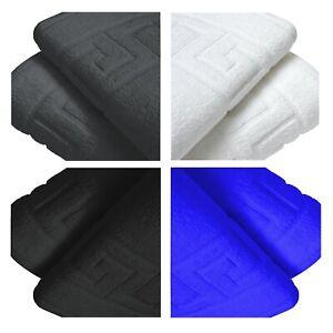 12X Hotel Quality Bath Mat Towel Greek Key Design Bathroom Rug 100% Pure Cotton