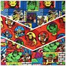 Marvel Character *CHOOSE DESIGN* Thor Falcon Ironman Hulk Quilting Fabric FQ
