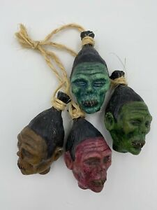 Shrunken head ornament oddities bizarre tiki curiosities