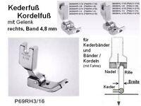 Kederfuß/ KORDELFUß rechts für BAND 4,8 mm P69RH 3/16 !!