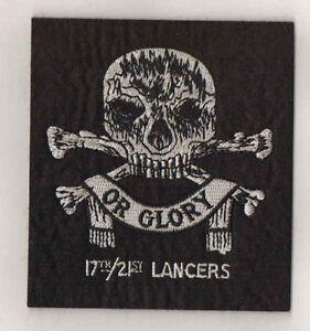 17th/21st Lancers blazer patch