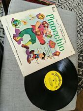 Walt Disney Pinocchio Vinyl Music Soundtrack 1959 Disneyland Record Used