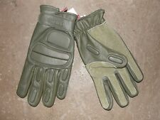 Pair of Gloves Combat Leather Green Size M (8) Khaki Army Intervention