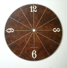 "Vtg Mint Midcentury Ge Usa 9"" Metal Round Clock Dial Face Brown Raised Numbers"