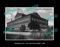 OLD POSTCARD SIZE PHOTO WASHINGTON DC USA VIEW OF THE PENSION OFFICE c1908