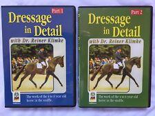 Dressage in Detail DVD's, parts 1 and 2, by Reiner Klimke. Slightly used.