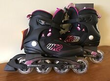 New listing K2 Kinetic 80 Womens Recreational Inline Skates Size 8 EUC Roller Blades