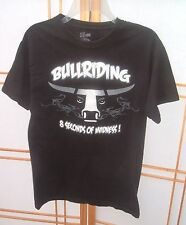 Bull Riding 8 Seconds Of Madness Black T-Shirt western Rodeo Cowboy Small
