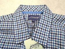 Jeremy Argyle of NYC Long Sleeve Blue Check Sport Shirt NWT XL $148 Trim Fit