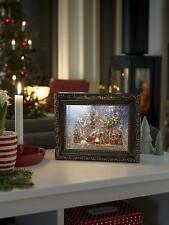 Water Filled Frame Snowing Nativity Scene LED Battery Operated Christmas Xmas