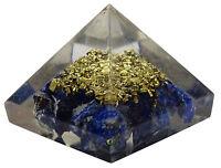 Lapis Lazuli pierre gemme Orgone pyramide Reiki générateur d'énergie de guérison
