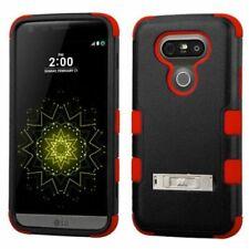 LG G5 MYBAT BLACK/RED TUFF HYBRID CASE W/STAND