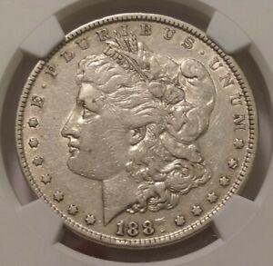 1887 Morgan Dollar Obverse And Reverse Struck Thru NGC VF30 3274