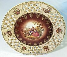 HUGE Schwarzenhammer BAVARIA Porcelain Reticulated Pierced CHARGER Platter Plate