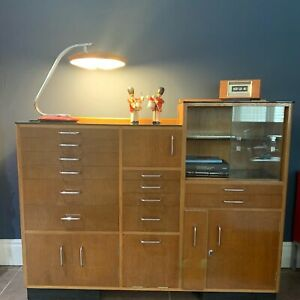 Vintage Dentists Cabinet Premier Cabinet Co The Martain Untouched Black Glass