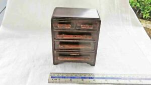Vintage Treen Small WWII Wooden Apprentice Piece? 5 Drawer Chest or POW Piece?