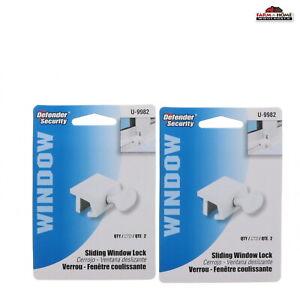 Defender Security U 9982 Window Sash Lock, Economy, White Finish ~ 2 Pack