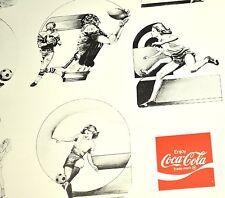 Coca Cola Coke Notebook Schreibblock USA 1970er - adds life to... SPORTS