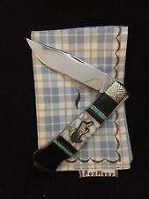 Brian Yellowhorse Custom Knives, Case Queen Lockback Cougar, Turquoise #1/50
