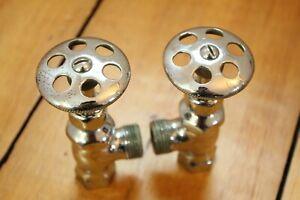 antique faucet shut off angle valve | standard wheel vtg victorian bath deco