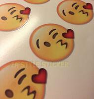 Emoji Sticker Smily herz emoji  Aufkleber Tuning Aufkleber handy emoji d106