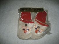 Vintage Christmas Santa Claus bell Slipper pair Japan new in package