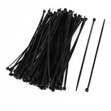Portable Hot 100 Pcs 150mm x 2mm Electrical Cable Tie Wrap Nylon Fastening Black