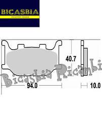 0853 PASTILLAS DE FRENO DELANTERO YAMAHA 600 FZ6 XJ MT - BICASBIA CERIGNOLA