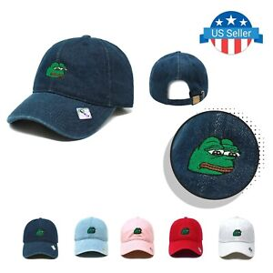 Pepe The Frog Dad Hat Sad Internet Memes US Trend Cotton Polo Style Baseball Cap