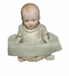 """Vintage Antique Nippon Porcelain Baby Doll Original Dress Ceramic Japan 5"""""""