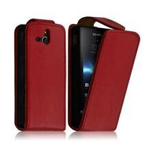 Housse Coque Etui Sony Xperia U Couleur Rouge