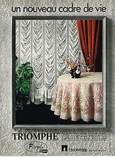 PUBLICITE  1970   TRIOMPHE  FLORGALLE voilage rideaux