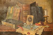 Original Still Life Oil On Canvas By Czene Apatfalvi Hungarian Master