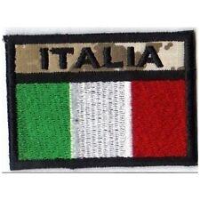 [Patch] BANDIERA ITALIA desert softair cm 6,5 x 4,5 toppa ricamata ITALY -315