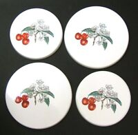 """New Set of 4 """"CHERRIES""""  Enamel Electric Oven Hob Covers - 2 x 16cm and 2 x 20cm"""