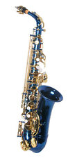 NEW  BLUE ALTO SAXOPHONE SAX W/5 YEARS WARRANTY.