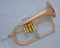 Prof Rose brass Flugel Horn Monel Valve Ablone Newest Water Key Flugelhorn +Case