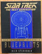 Star Trek Next Generation USS Enterprise 13 Blueprints & 16 p Booklet Sternbach