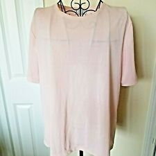 Jennifer Moore for Women Pullover Shirt 1X Plus Size Pink Sparkly Short Sleeve