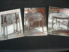 LES MEUBLES Lot de 3 volumes
